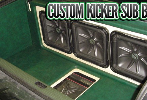 Custom Kicker Sub Boxes Lucky's Autosports