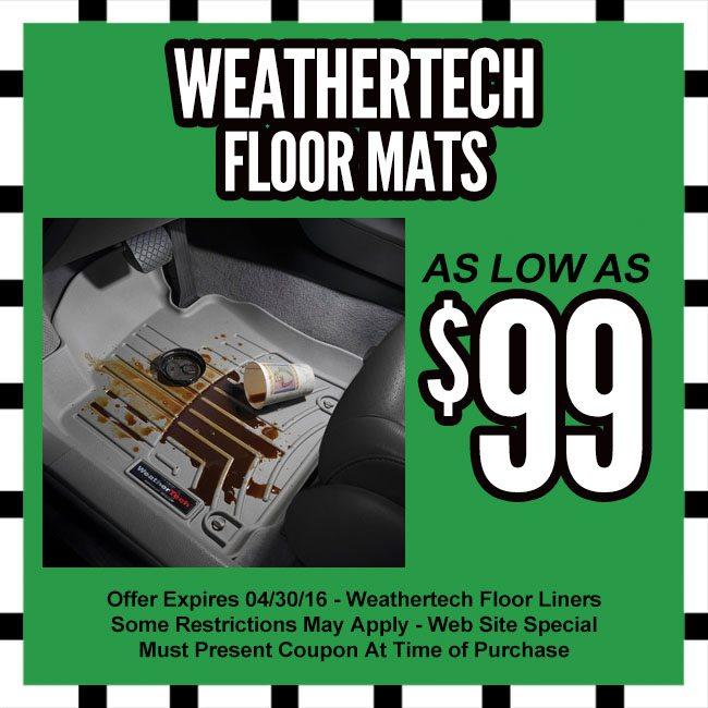 weathertech floor mats coupon