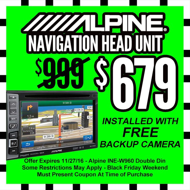 Alpine Navigation Unit Black Friday