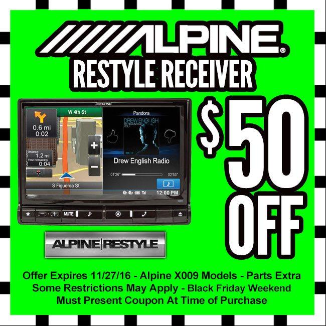 Alpine Restyle Head Unit Black Friday