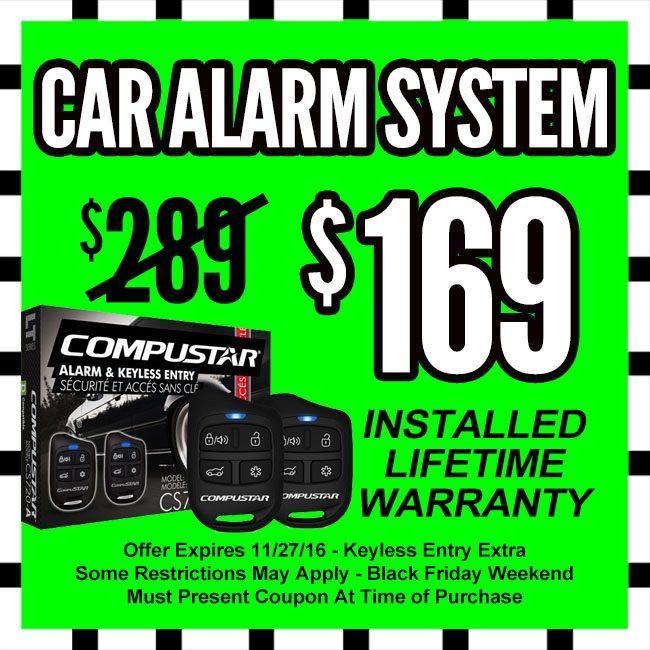 Car Alarm System Black Friday