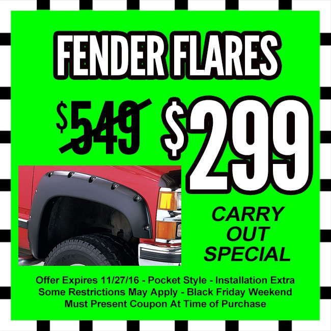Fender Flares Black Friday