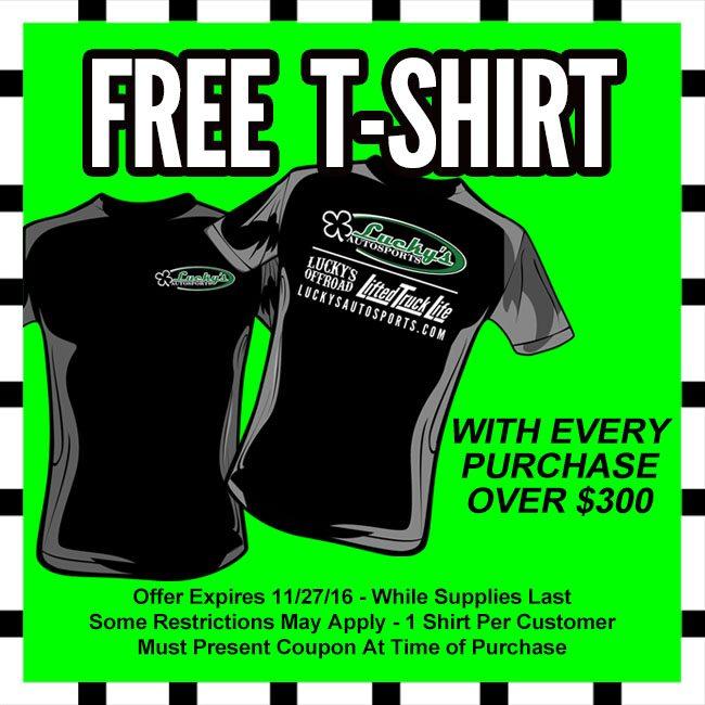 Free Shirt Giveaway Black Friday