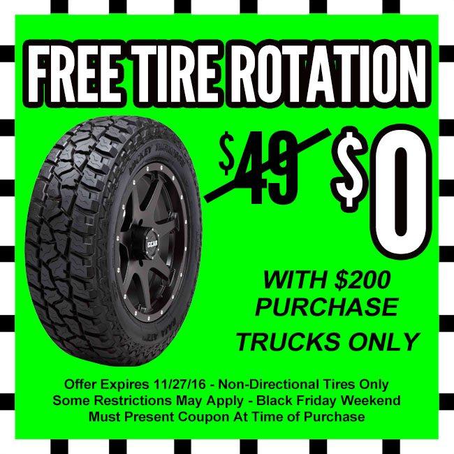 Free Tire Rotation Black Friday