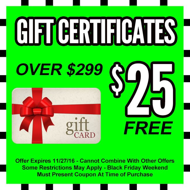 Lucky's Black Friday Gift Certificates
