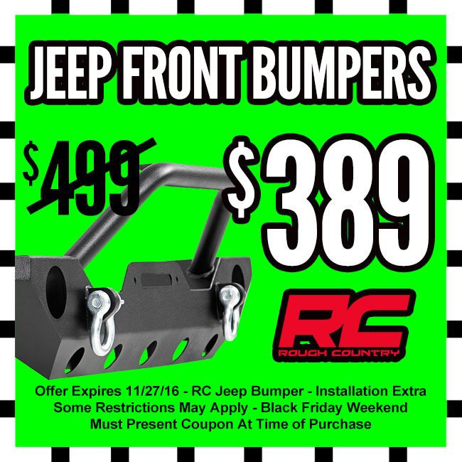 Rough Country Jeep Bumper Black Friday