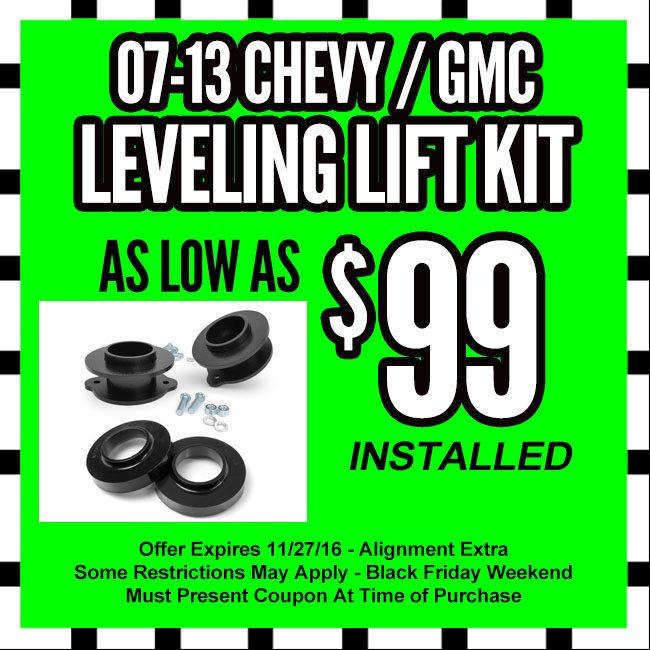 Chevy GMC Leveling Kit Black Friday