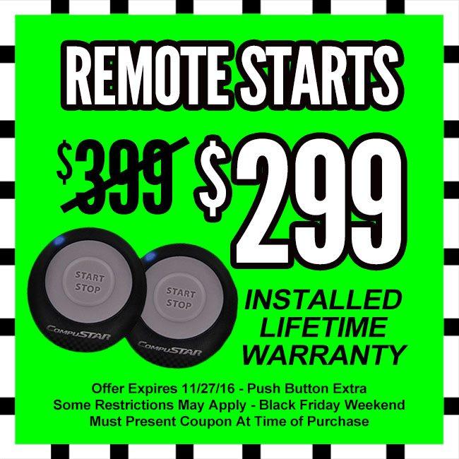 Remote Starts Black Friday