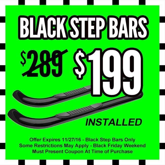Truck Step Bars Black Friday