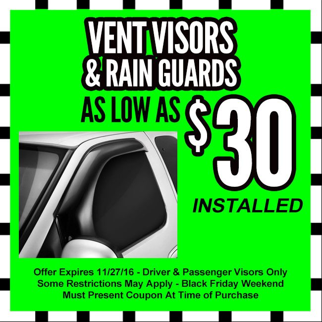 Vent Visors Black Friday Coupon