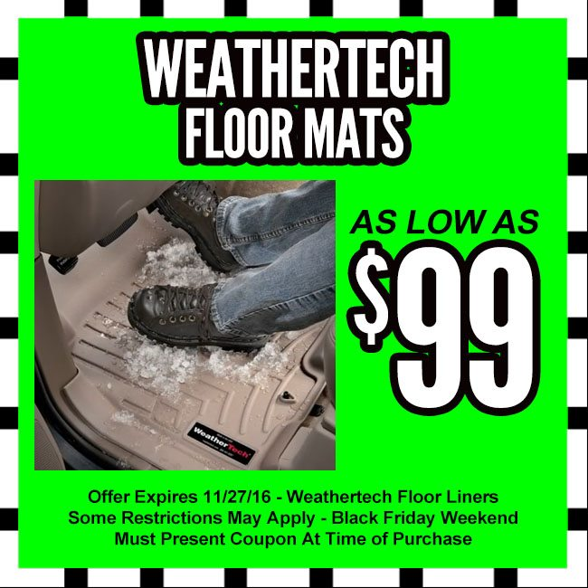 WeatherTech Floor Mats Black Friday