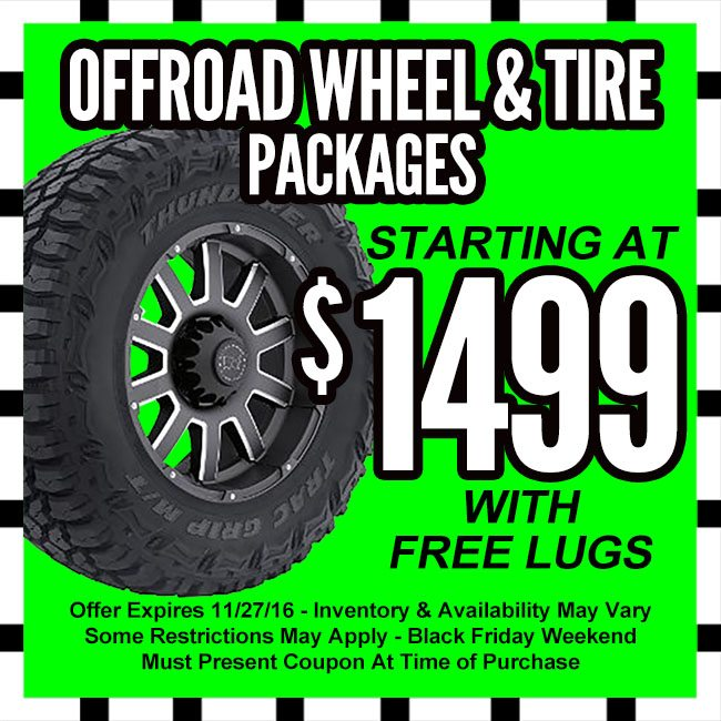 Offroad Wheel and Tire Black Friday