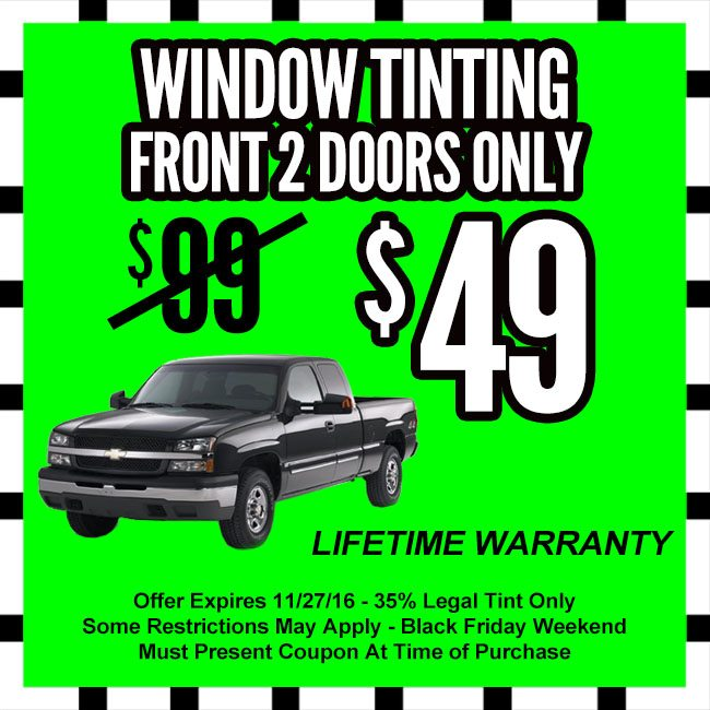 Window Tinting Black Friday Coupon