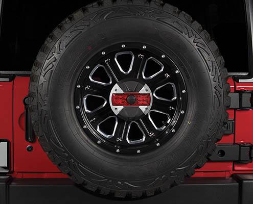 alpine jeep spare tire backup camera