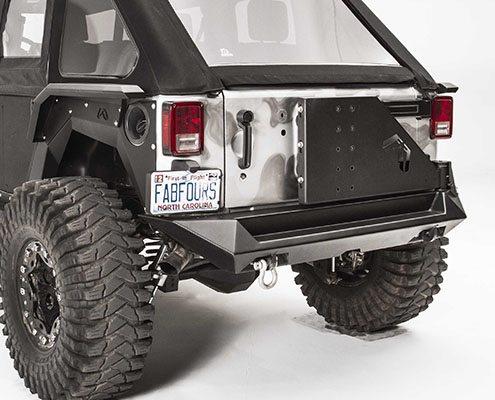 fab fours rear bumper tire carrier